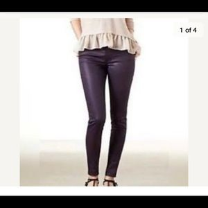 American Eagle Purple Stretchy High Rise Jeggings